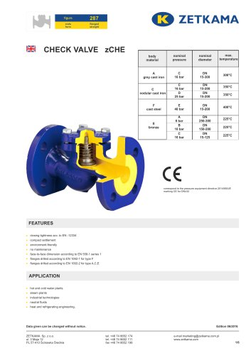 Check valve zCHE Fig.287