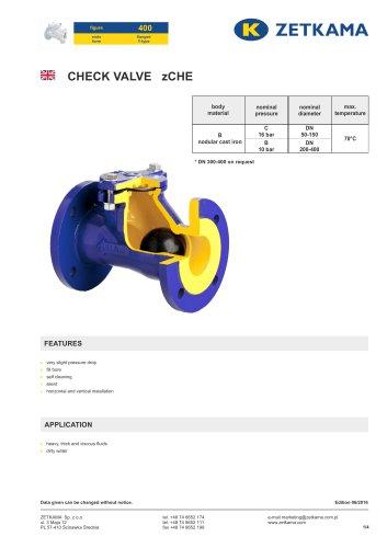 Check valve zCHE Fig.400
