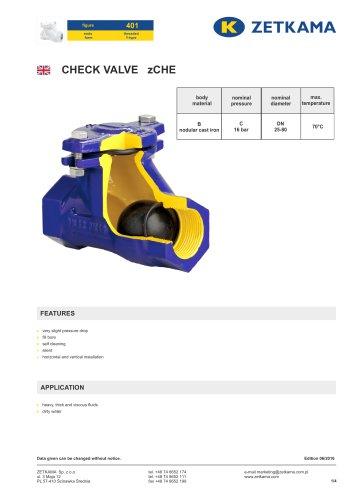 Check valve zCHE Fig.401