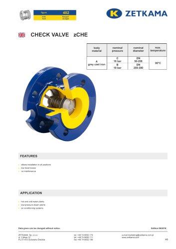Check valve zCHE Fig.402