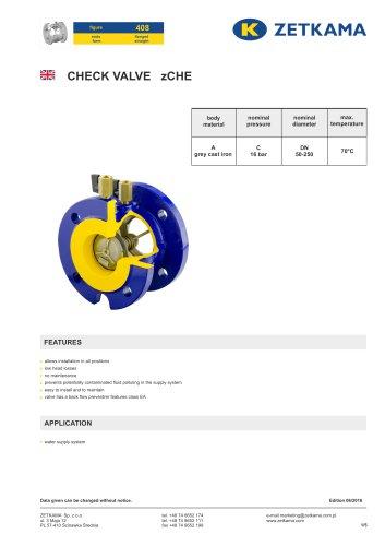 Check valve zCHE Fig.408