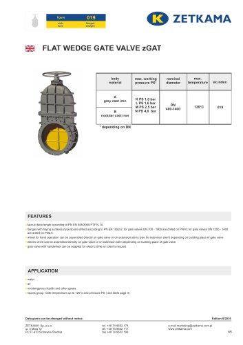 Gate valve zGAT Fig.019