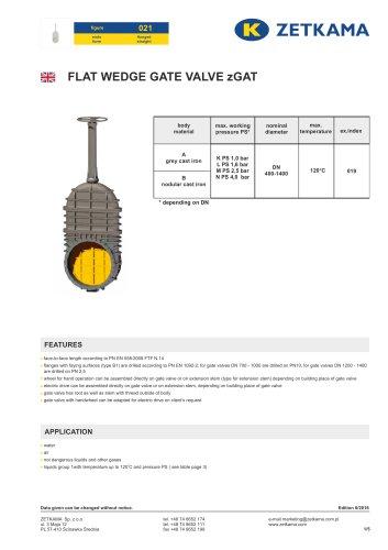 Gate valve zGAT Fig.021