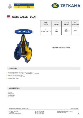 Gate valve zGAT Fig.111
