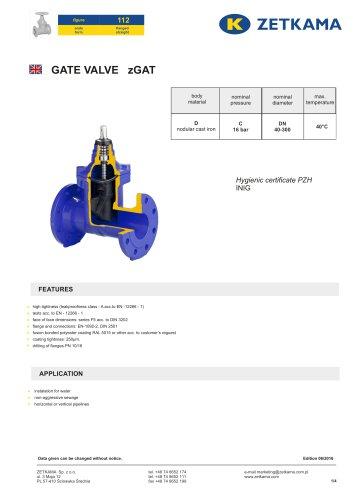Gate valve zGAT Fig.112