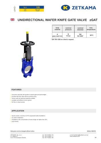 Gate valve zGAT Fig.120