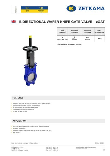Gate valve zGAT Fig.121