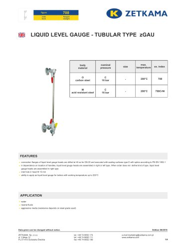 Liquid level gauges zGAU Fig.708