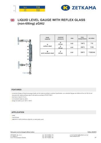 Liquid level gauges zGAU Fig.715