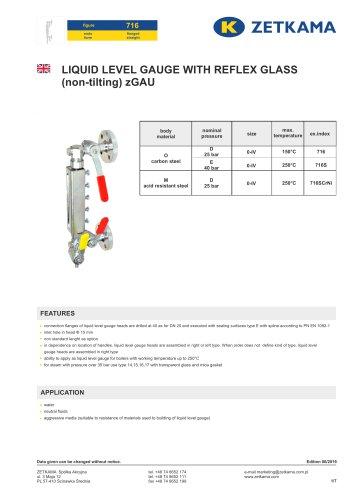 Liquid level gauges zGAU Fig.716