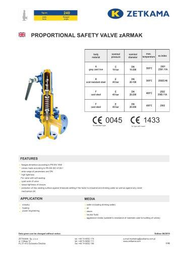 Safety valve zARMAK Fig.240