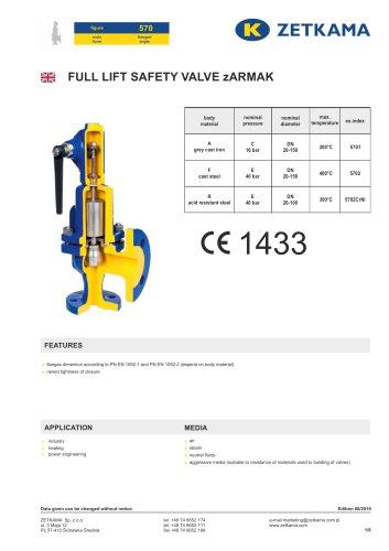 Safety valve zARMAK Fig.570