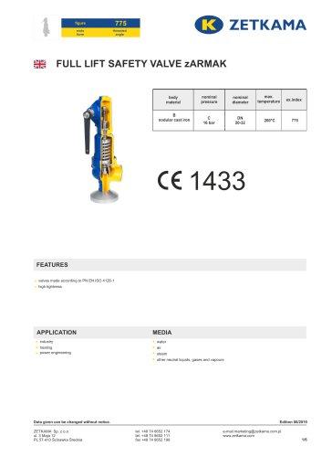 Safety valve zARMAK Fig.775