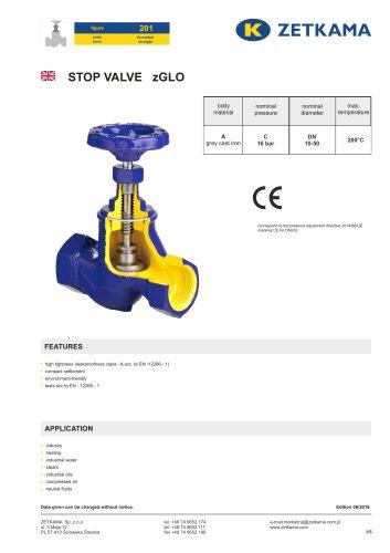 Stop valve zGLO Fig.201