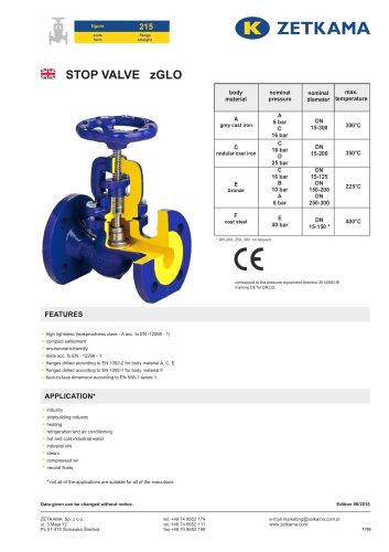 Stop valve zGLO Fig.215