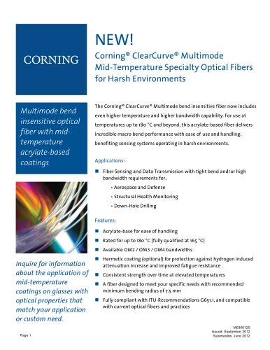 ClearCurve Multimode Mid-Temperature for Harsh Environments