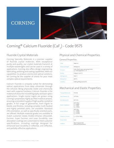 Corning® Calcium Fluoride (CaF2) - Code 9575