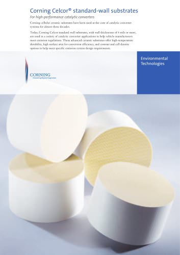 Corning Celcor® standard-wall substrates
