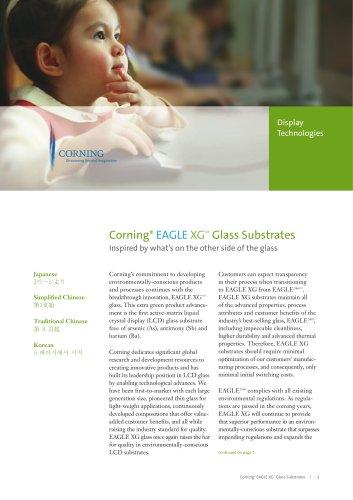 EAGLE XG TM  Glass Substrates