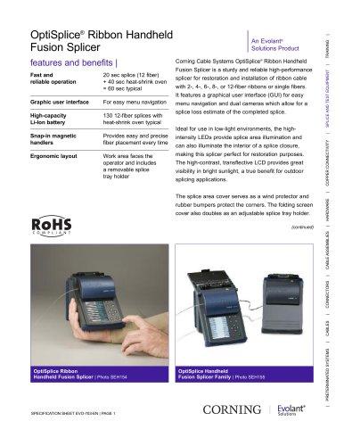 OptiSplice® Ribbon Handheld Fusion Splicer