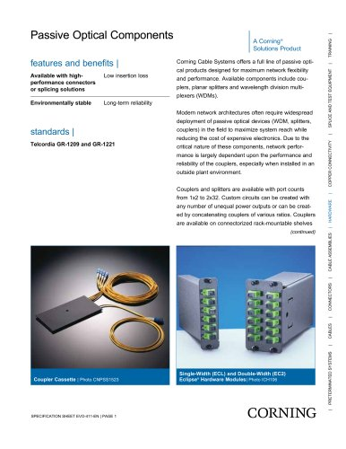 Passive Optical Components