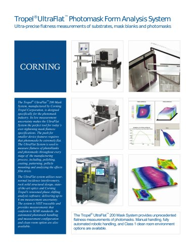 Tropel® UltraFlat™ Photomask Form Analysis System
