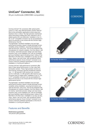 UniCam® Connector, SC