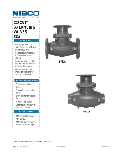 Flanged & Grooved Circuit Balancing Valve NPI