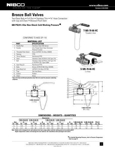 T-585-70-66-HC - NIBCO - PDF Catalogs | Technical ... on