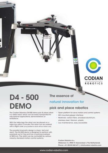 D4-500 demo pick & place robot