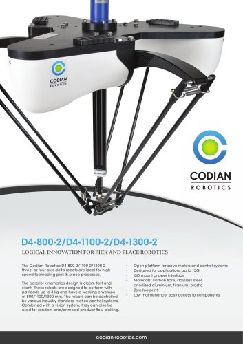 D4-800-2 pick & place robot