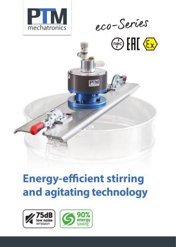 Energy-efficient stirring and agitating technology