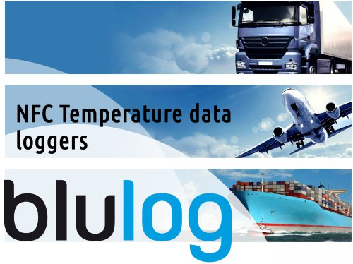 Brochure Blulog NFC temperature data loggers food