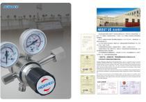 pressure regulator brass/SS316 single/double stage