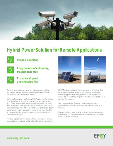 Hybrid Power Solution for Remote Applications