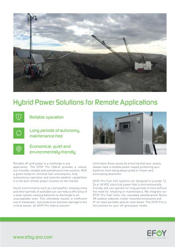 Hybrid Power Solutions for Remote Applications