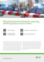 Off-grid power for domestic security - 1