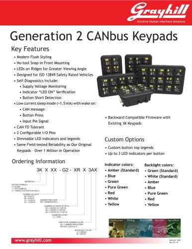 Generation 2 CANbus Keypads