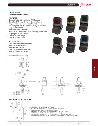 SERIES 68B Hall Effect Rocker Switch