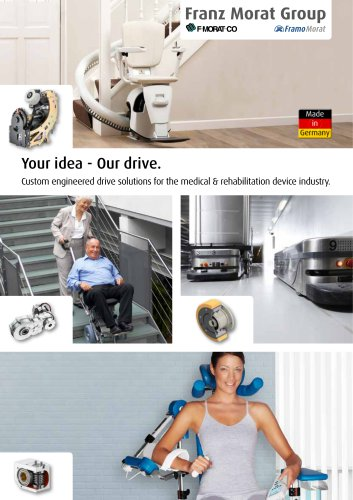 Drive Solutions for the medical technology & rehabilitation technology