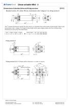 Linear actuator Mini technical documentation - 10