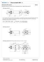 Linear actuator Mini technical documentation - 12