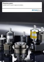 Planetary gears. Standard series & custom engineered solutions