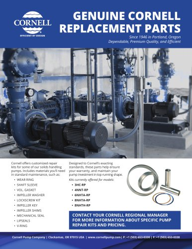 REPLACEMENT PARTS - Cornell Pump - PDF Catalogs | Technical