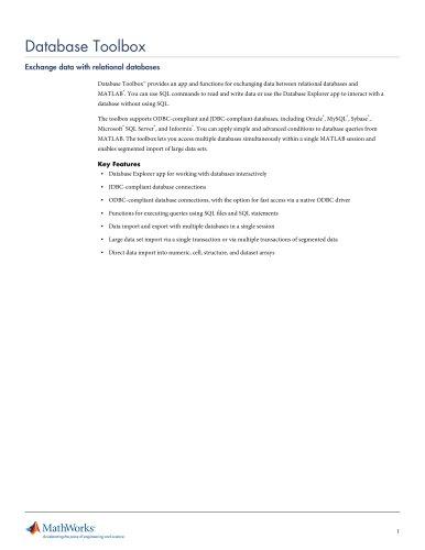 Database Toolbox