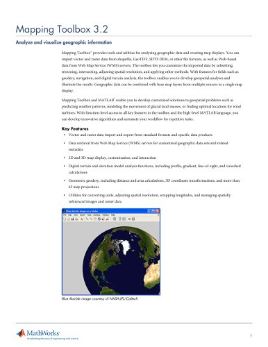 Mapping Toolbox 3.2