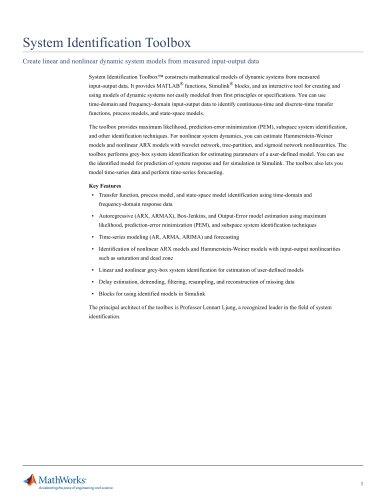 System Identification Toolbox
