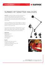 SUNNEX HF 50W/75W HALOGEN