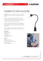 SUNNEX HS 20W HALOGEN