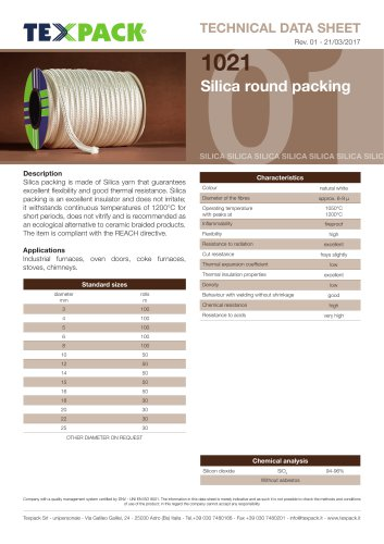 Silice round packing